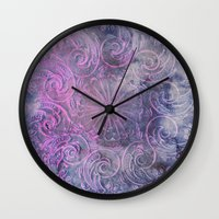 deco Wall Clocks featuring Boho Deco by cafelab