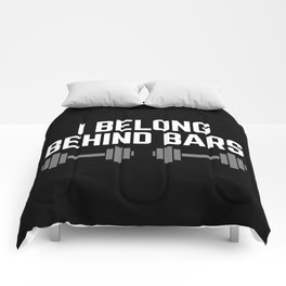 Behind Bars Gym Quote Comforters