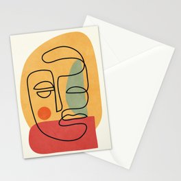 Abstract Face 20 Stationery Cards