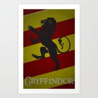 gryffindor Art Prints featuring Gryffindor by Fanboy's Canvas