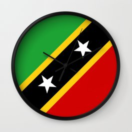 Saint Kitts and Nevis country flag Wall Clock
