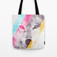 eric fan Tote Bags featuring Wild 2 by Eric Fan & Garima Dhawan by Garima Dhawan