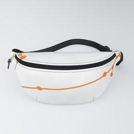 Pisces (Orange & White) Fanny Pack
