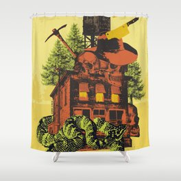 OLD TIMEY DARKNESS Shower Curtain