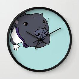 Faith The Resilient Pit Bull Wall Clock