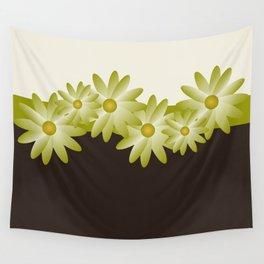 Green Daisy Wall Tapestry