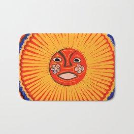 The sun Huichol art Bath Mat