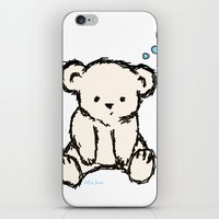 teddy bear iPhone & iPod Skins featuring Teddy by RaJess