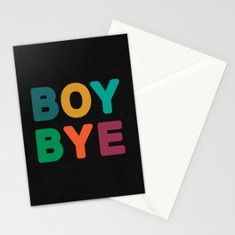 Boy Bye Stationery Cards