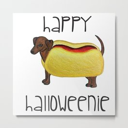 Happy Halloweenie Metal Print
