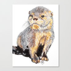 Just an otter Canvas Print