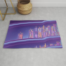 Saturnian Ultraviolet Wave Two Rug