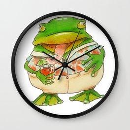 Frog Vacation Wall Clock