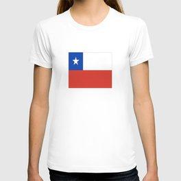 flag of Chile- -Spanish,Chile,chilean,chileno,chilena,Santiago,Valparaiso,Andes,Neruda. T-shirt