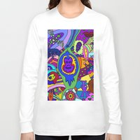 psychadelic Long Sleeve T-shirts featuring Abstract 18 by Linda Tomei