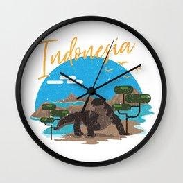 Komodo Indonesia Wall Clock
