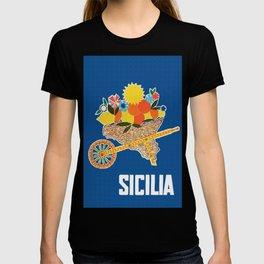 Sicilia - Sicily Italy Vintage Travel T-shirt