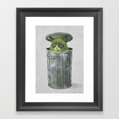 Grouchy Cat  Framed Art Print