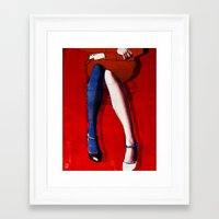 legs Framed Art Prints featuring Legs by Ed Pires