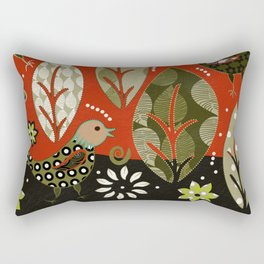 birds in summer Rectangular Pillow