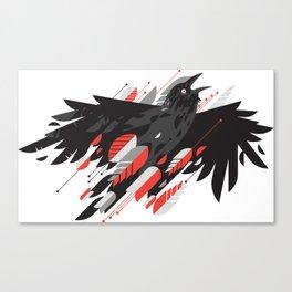 Crow Escape Canvas Print
