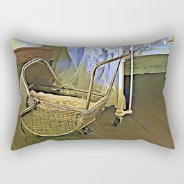 Once Upon a Time - Pram in the Nursery Rectangular Pillow