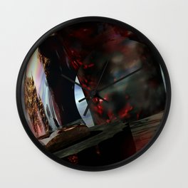 The Tomb of Ligeia // Quoth the Raven Nevermore Wall Clock
