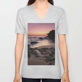 Roche Reefs At Sunset. Cadiz Unisex V-Neck
