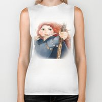 merida Biker Tanks featuring Merida  by Teddy Wade