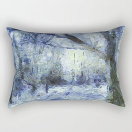 Blue Forest Van Gogh Rectangular Pillow