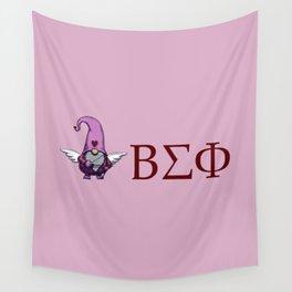 ΒΣΦ with Valentine's Gnome on Pink (BSP) Wall Tapestry