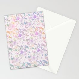 Modern lavender lilac pink watercolor floral Stationery Cards