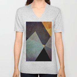 Purple Yellow Geometric Abstract Unisex V-Neck