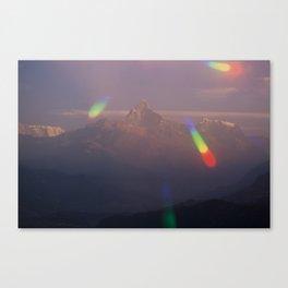 The Machapuchare Shine Canvas Print