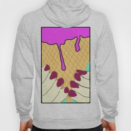 dripping ice cream cone Hoody