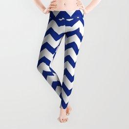 Blue Chevron Leggings