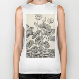 Water Lillies Biker Tank