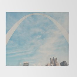 the gateway to the west ... Throw Blanket