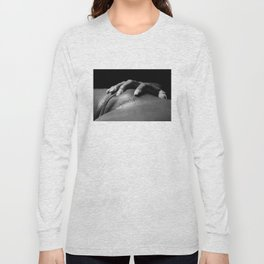 Closeup Woman Vagina in black and white and film grain finish - #8801 Long Sleeve T-shirt