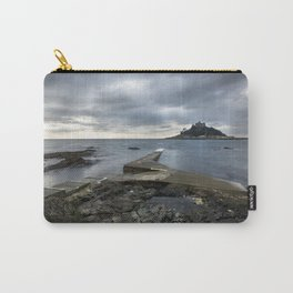 Stormy St Micheal's Mount, Cornwall, UK Carry-All Pouch