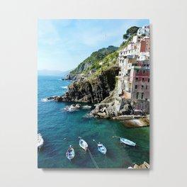 Riomaggiore Harbor Metal Print