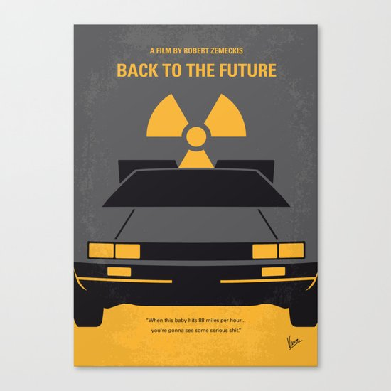 No183 My Back to the Future minimal movie poster Canvas Print