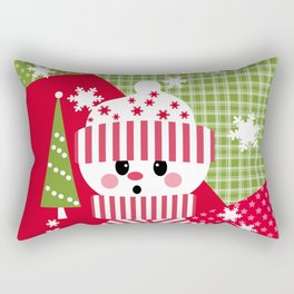Snowman. Patchwork 1 Rectangular Pillow