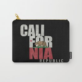 Cali Bear Flag with deep distressed textures Carry-All Pouch