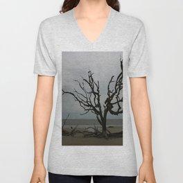 Ghost Tree Beach Unisex V-Neck