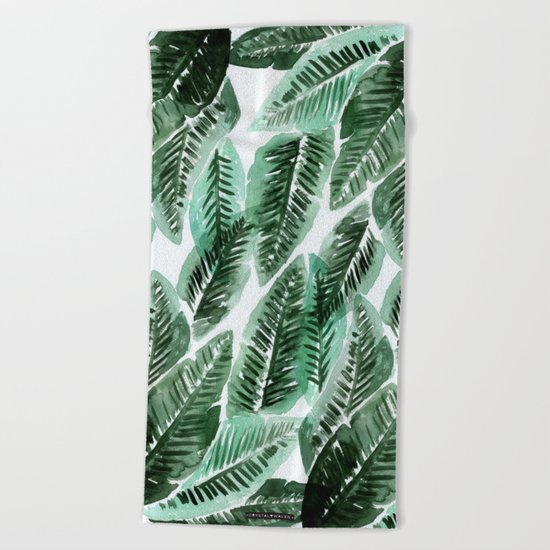 Paradise Leaves Beach Towel