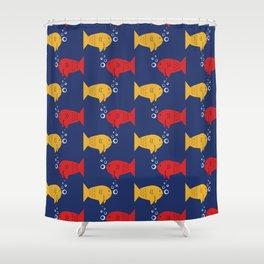 Undersea Fish Print Shower Curtain