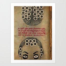 Coiffure Target 6000 Art Print