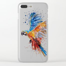 Beautiful Colorful Macaw Clear iPhone Case