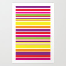 sunshine stripe Art Print